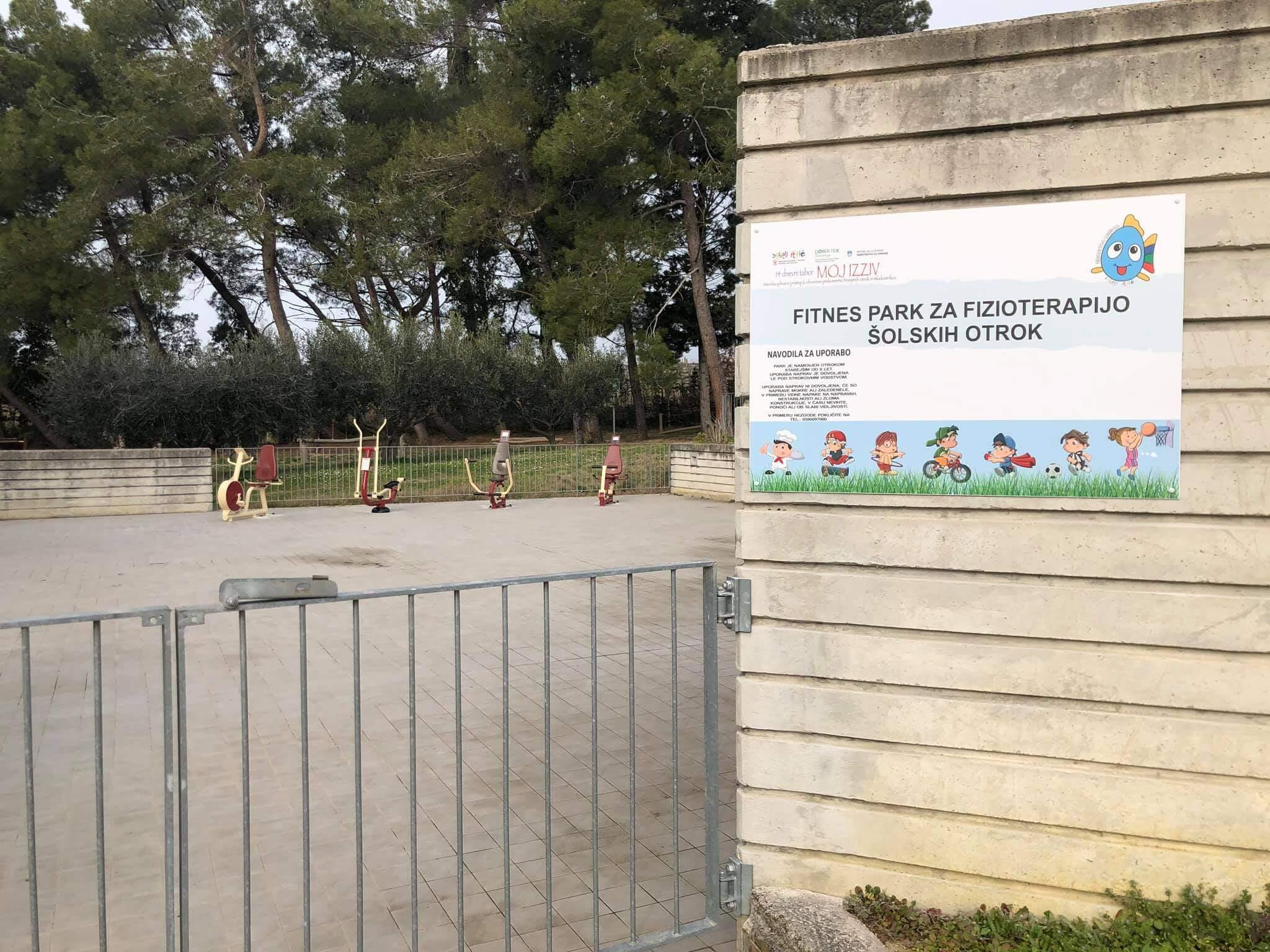 Fitnes park za fizioterapijo šolskih otrok – Debeli Rtič